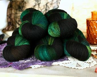 Treehouse 434 yards/ Titanium Sock Yarn/ superwash merino 4 ply tonal dyed DOMESTIC SPUN