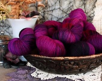Gothic Romance 434 yards/ Titanium Sock Yarn/ superwash merino 4 ply tonal dyed DOMESTIC SPUN