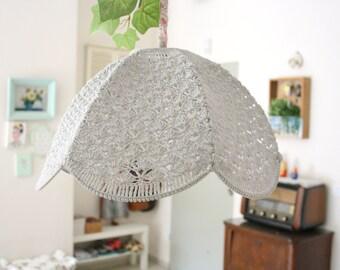 Crochet Lamp Shade - Light gray