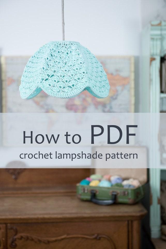 Crochet Lampshade Pdf Pattern Step By Step Diy Pattern Ready Etsy
