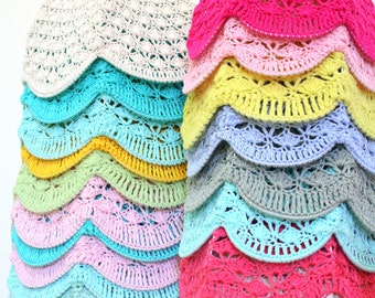 Crochet Lamp Shade - Choose your color