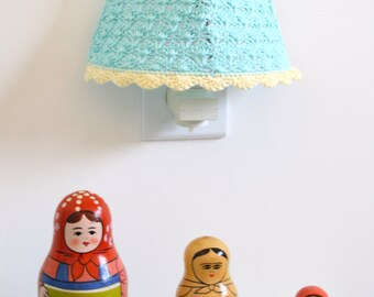 Crochet Lampshade / Night Light Crochet Lampshade