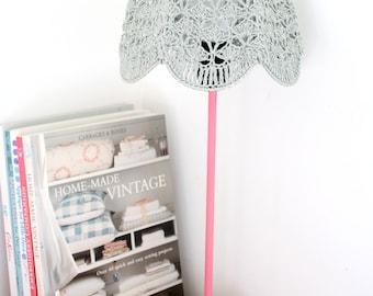 Crochet Lampshade - Gray