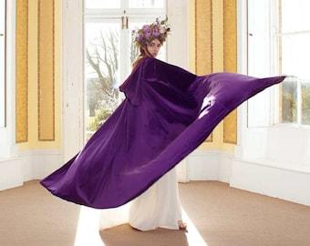 Velvet Hooded Cloak, Winter Wedding Cloak