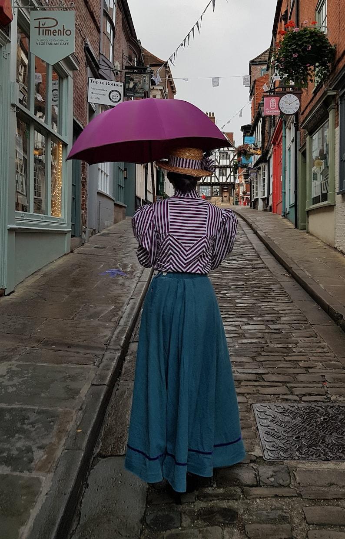 Victorian Skirts | Bustle, Walking, Edwardian Skirts Edwardian Skirt MARY SKIRT Ankle Length Skirt Long Linen Skirt $125.00 AT vintagedancer.com