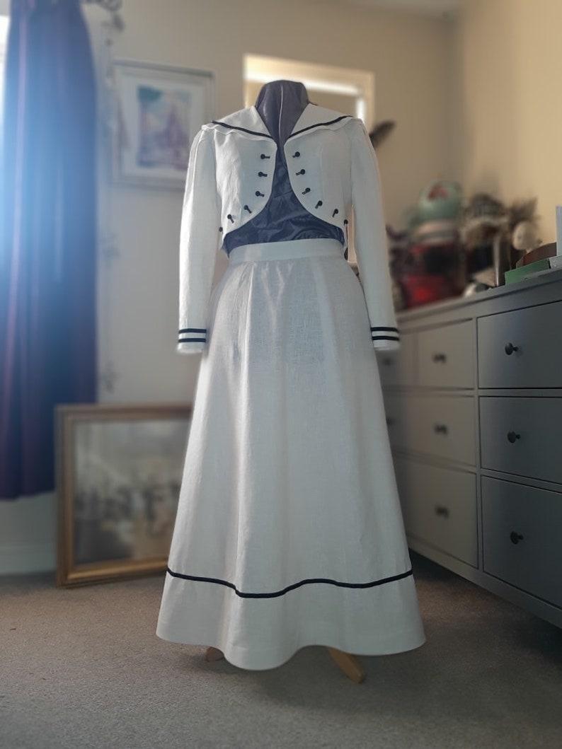 Edwardian Skirts History – 1900 – 1910s Edwardian Skirt MARY SKIRT Ankle Length Skirt Long Linen Skirt $136.87 AT vintagedancer.com