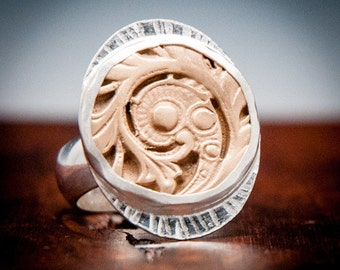 Handcrafted Rings, One of a kind jewelry, Unique Jewelry, Handmade Silver Jewellery, Artisan Rings, Fern Ring, Handcrafted Rings