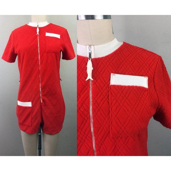 Vintage 60s Mod JANTZEN Playsuit Romper Jumpsuit R