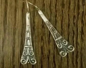 STERLING SILVER Vintage Spoon Earrings