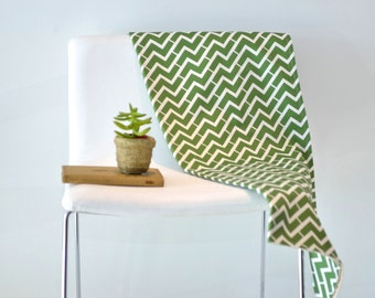 Organic Baby Blanket- Spring Decor- Modern Baby Blanket in Green, Yellow or Brown