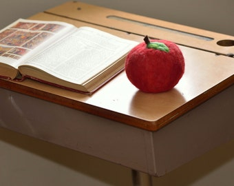 Teacher's Gift- Giant Felted Apple- School Desk Decor - Eco Friendly & Kid Friendly Wool Fruit