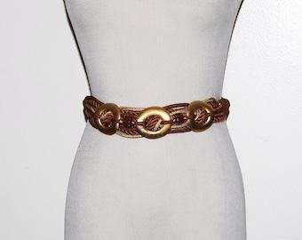 Vintage Belt Gold with Brown