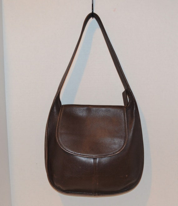 Vintage Coach Ergo Flap Brown Leather with Tag