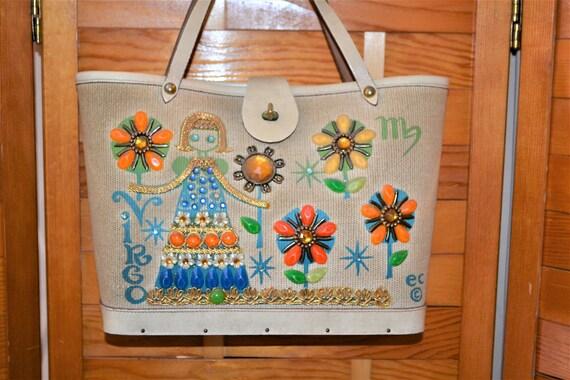 Virgo Enid Collins Beaded Handbag 1960's