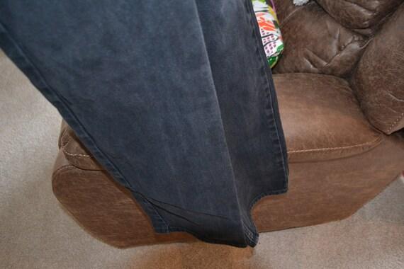 Versace Couture Black Denim Pants 1990's - image 7