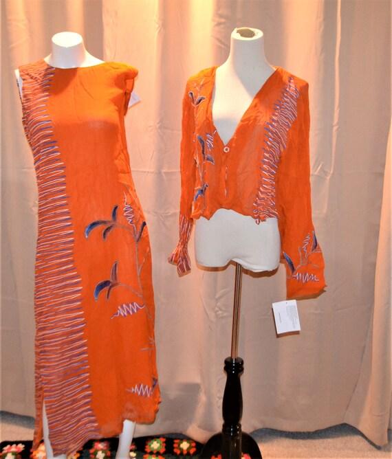 Gypsy Slip Dress with Bolero Cover