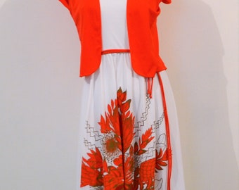 Alfred Shaheen Wild about Red Dress and Top