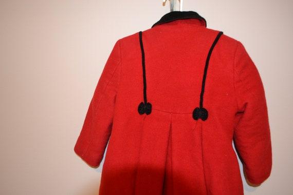 Princess Vintage Coat Wool with Bows - image 3