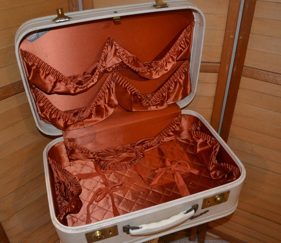 Vintage Ivory Suitcase 1940's