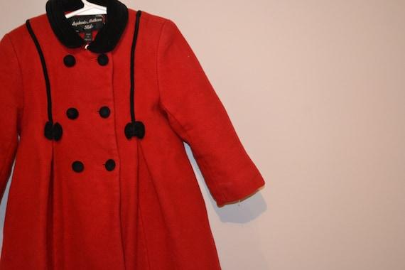 Princess Vintage Coat Wool with Bows - image 4