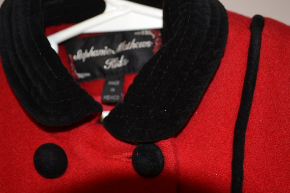 Princess Vintage Coat Wool with Bows - image 5