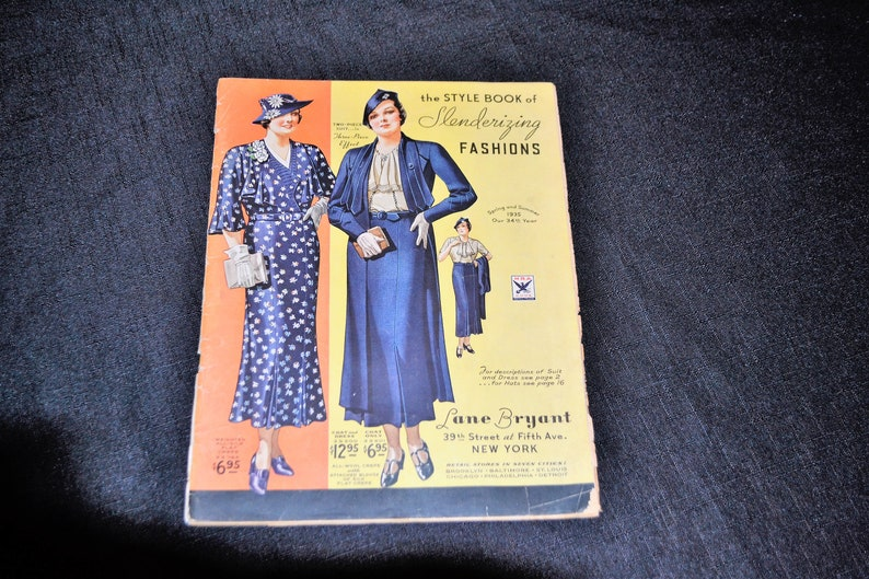 1ca8ac2cf1d4b Lane Bryant Spring and Summer Catalog 1935 | Etsy