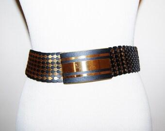 Vintage Belt Gold and Black Stretch