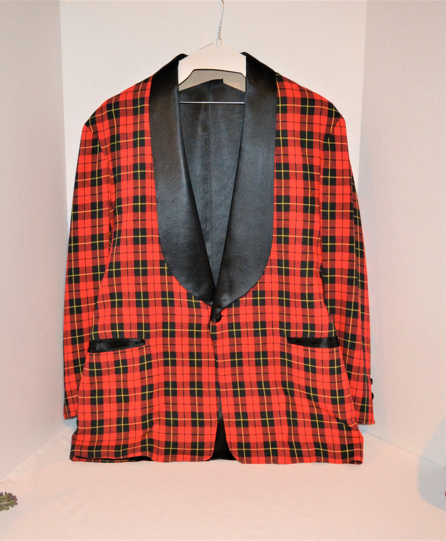 1940s Mens Ties | Wide Ties & Painted Ties Vintage Menss Silk With Tartan Tux, Evening Robe, Jacket 1930s $0.00 AT vintagedancer.com