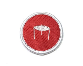 "Pizza Saver 2"" Diameter Patch, Embroidered Patch, Pizza Patch"