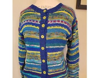 Hand Knit Designer Cardigan