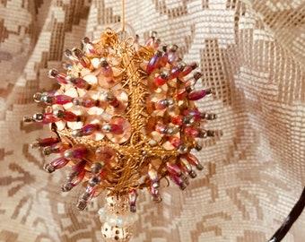 Vintage beaded ornament