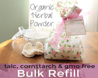 Herbal Body Powder | Lavender Powder | Dusting Body Powder | Lavender scented | Talc Free Powder | Cornstarch Free Powder | Soothing Skin