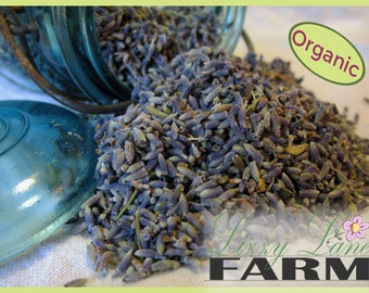 Organic Lavender Food Grade,  whole dried herb 1 Pound, bulk Premium lavender flower buds. Dried Lavender