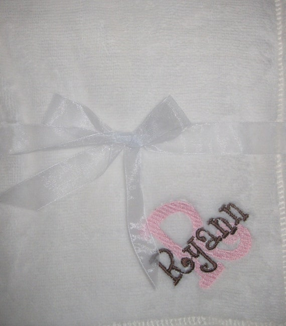 Personalized Baby Blanket Embroidered Fleece Tahoe for Girl or Boy Many Choices