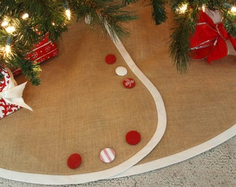 extra large christmas tree skirt all tailored buttoned up pick your banding and buttons