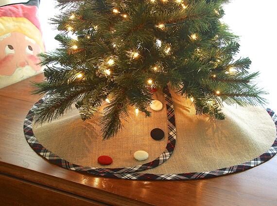 image 0 - JANUARY Shipping BURLAP Pencil Christmas Tree Skirt Etsy