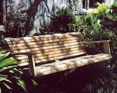 5' Handmade Cypress Porch Swing Swings