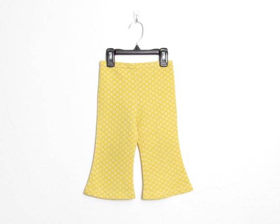 Girl's Health-tex Flared Pants / Yellow & White Di