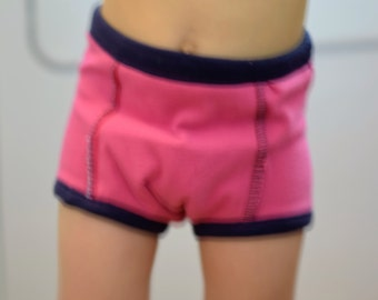Kids hidden waterproof wet zone knit cloth potty training pants, briefs or trunk, girl or boy/unisex, solid or print, per pair
