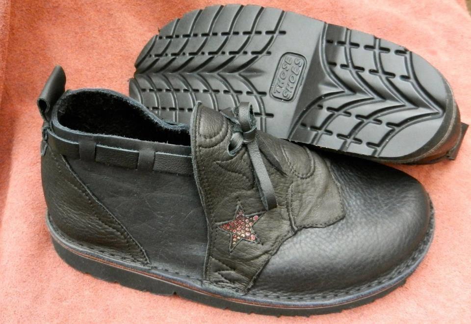 bceab20b92263 Handmade Custom Leather Shoes -black bull hide -goat Skin Trim - Custom  Made Size 5, 6, 7, 8, 9, 10