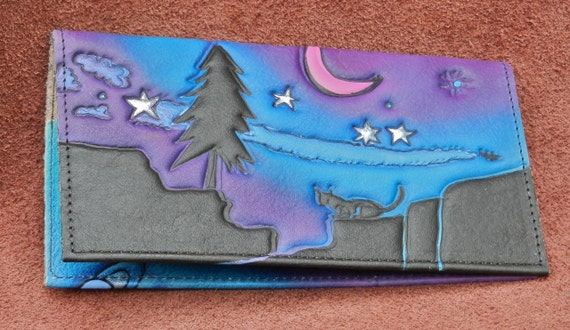 Rainbow with stars Checkbook cover