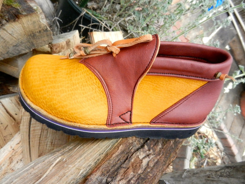 bd1770a14cfab Handmade Custom Leather shoes,Awesome gold buffalo leather in CUSTOM MADE  or, stock Sizes 5, 6, 7, 8, 9, 10 and 5- 12 in mens sizes
