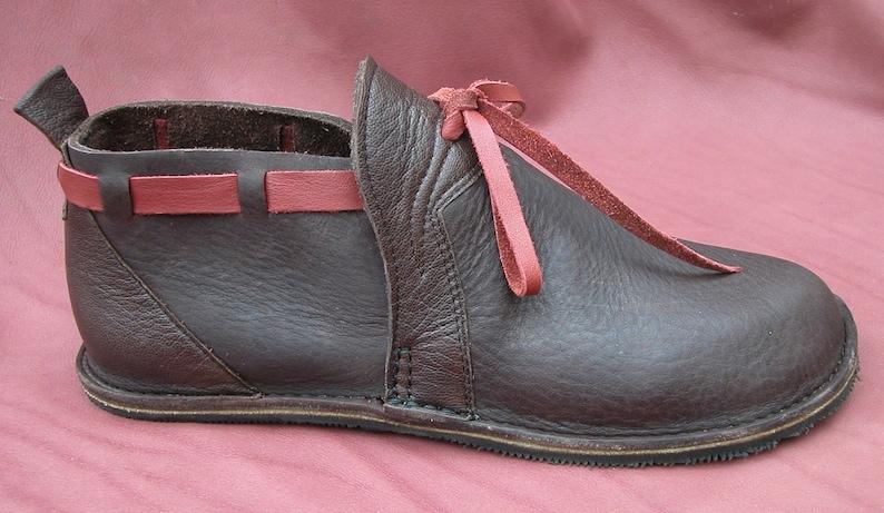 3f33044857c34 Handmade Custom Leather Shoes - Chocolate Brown & Red Bull Hide -