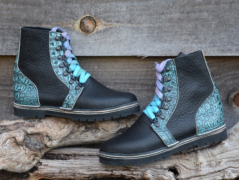 Handmade Custom Leather Boots light and comfortable MIK BOOT 14 pcell mid sole Vibram lug  sole or Regular Sole