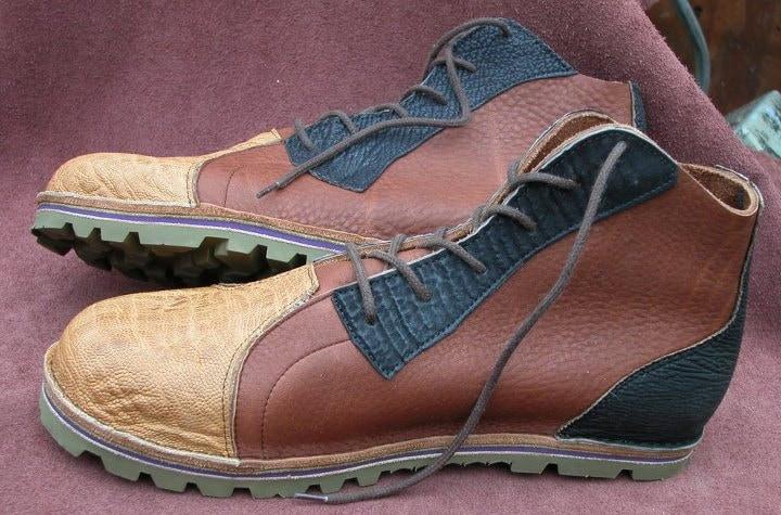 Leather Custom Handmade Cocoa Shoes - Tan Brown Cocoa Handmade Black Tobacco Bull Hide High Top Custom Made Size 5, 6, 7, 8, 9, 10 f19445