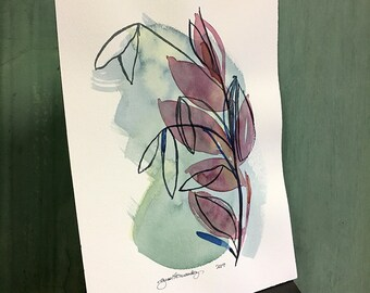 just one more / original watercolor / one of a kind painting