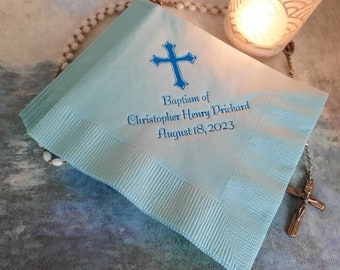 Baptism napkins christening napkins first communion napkins confirmation napkins cross napkins religious napkins dedication napkins