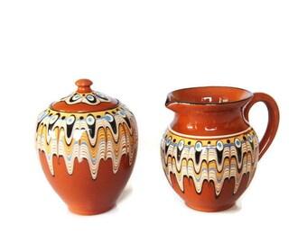 Vintage Bulgarian Terracotta Pottery 3.2cm Troyan Miniature Cake Dish