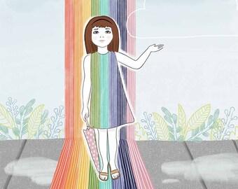 Rainbow - Art Print - 8x10
