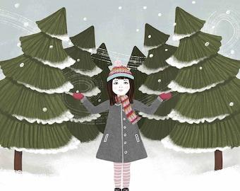 Winter Forest - Art Print - 8x8